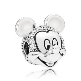 Pandora 797495CZ Clip-Element Shimmering Mickey Portrait