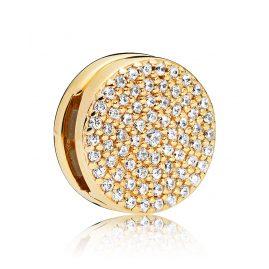 Pandora 767583CZ Reflexions Clip Charm Dazzling Elegance Shine