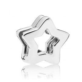 Pandora 797544 Reflexions Clip Charm Sleek Star Silver