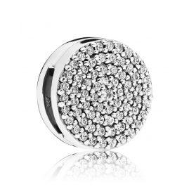Pandora 797583CZ Reflexions Clip Charm Dazzling Elegance Silber