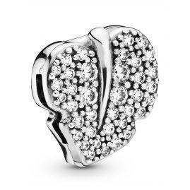Pandora 798293CZ Reflexions Clip-Charm Sparkling Leaf
