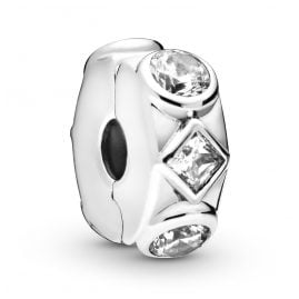 Pandora 798463C01 Silver Clip Element Geometric Shapes