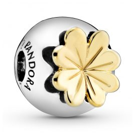 Pandora 768713C01 Shine Clip-Element Lucky Four-Leaf Clover