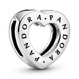 Pandora 798741C00 Reflexions Silver Clip Charm Logo Heart
