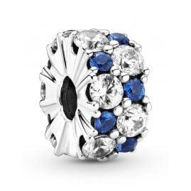 Pandora 799171C01 Clip-Charm Klares & Blaues Funkeln