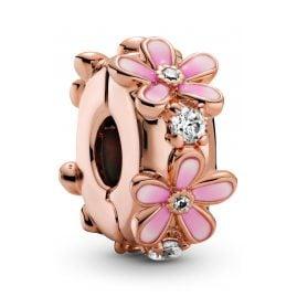 Pandora 788809C01 Rose Clip-Charm Pinkes Gänseblümchen