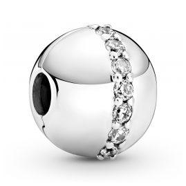 Pandora 799403C01 Silber Clip Charm Funkelnde Linie