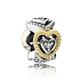 Pandora 791975CZ Zwischenelement Vintage Herzen
