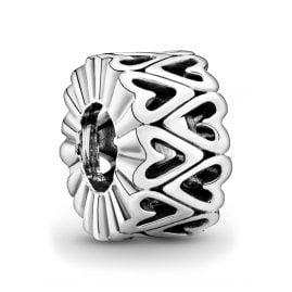 Pandora 798694C00 Silver Spacer Openwork Freehand Heart