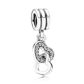 Pandora 791242CZ Charm Pendant Interlocked Hearts