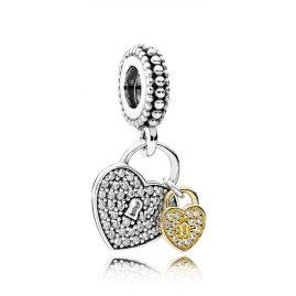 Pandora 791807CZ Heart Lock Charm Pendant
