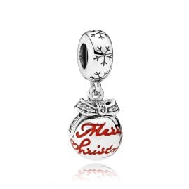 Pandora 792008CZ Charms Pendant Merry Christmas Bauble
