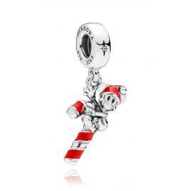 Pandora 797500EN09 Charm-Anhänger Santa Mickey's Candy Cane