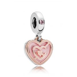 Pandora 787801NBP Rose Charm-Anhänger Path to Love