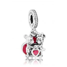 Pandora 797769CZR Charm-Anhänger Minnie & Mickey with Love