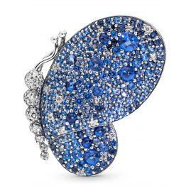 Pandora 697996NCB Damenbrosche Dazzling Blue Butterfly