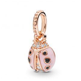 Pandora 387909EN160 Rose Anhänger Lucky Pink Ladybird