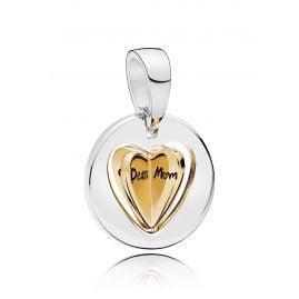 Pandora 767774 Shine Charm-Anhänger Mum´s Golden Heart