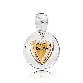 Pandora 767774 Shine Charm Pendant Mum´s Golden Heart