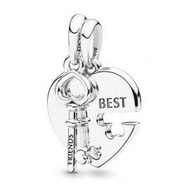 Pandora 398130 Anhänger-Paar Best Friends Herz und Schlüssel