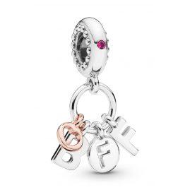 Pandora 788165NCC Charm Anhänger Best Friends Forever BFF Silber/Rose