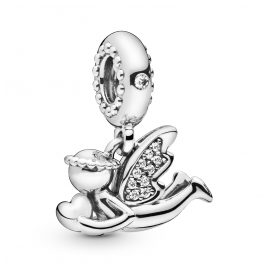 Pandora 798484C01 Silver Charm Pendant Angel of Love