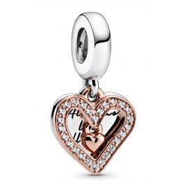 Pandora 788693C01 Rose Charm-Anhänger Funkelndes Herz