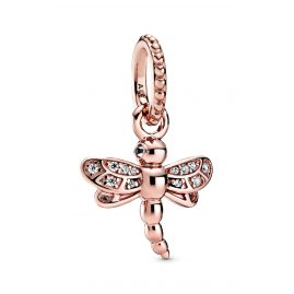 Pandora 388803C01 Rose Chain Pendant Sparkling Dragonfly