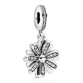 Pandora 798813C01 Silber Charm-Anhänger Funkelndes Gänseblümchen