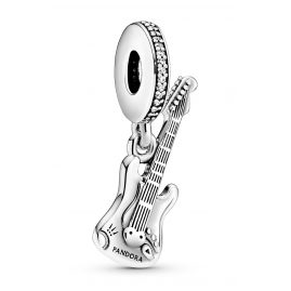 Pandora 798788C01 Silver Dangle Charm Electric Guitar