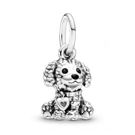 Pandora 798871C01 Silver Dangle Charm Poodle Puppy Dog