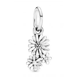 Pandora 798819C00 Silver Dangle Charm Daisy Flower Bouquet