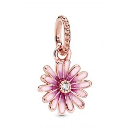 Pandora 788771C01 Rose Dangle Charm Pink Daisy Flower