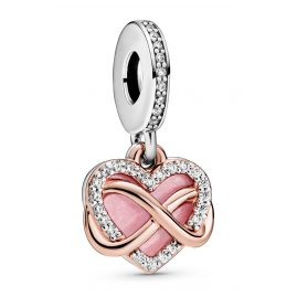 Pandora 788878C01 Rose Dangle Charm Sparkling Infinity Heart