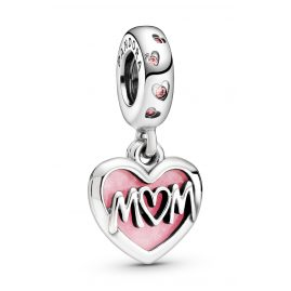 Pandora 798887C01 Silber Charm-Anhänger Mum-Herz