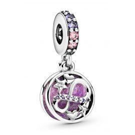 Pandora 798829C01 Silver Dangle Charm Glittering Infinity, Hearts & Stars