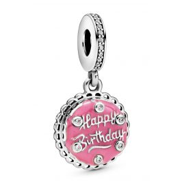 Pandora 798888C01 Silver Dangle Charm Pink Birthday Cake