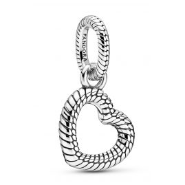 Pandora 399094C00 Silver Pendant Heart with Snake Chain Pattern