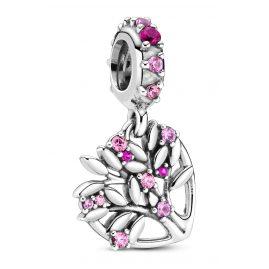 Pandora 799153C01 Silber Charm-Anhänger Pinkfarbenes Herz Familienbaum