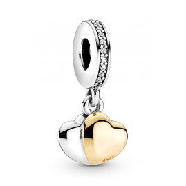 Pandora 799162C01 Charm-Anhänger Doppelherz Silber