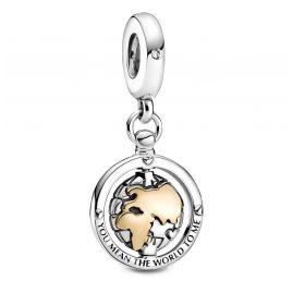 Pandora 799303C01 Silber Charm-Anhänger Kreiselnde Welt