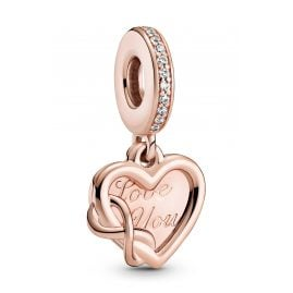 Pandora 789369C01 Rose Dangle Charm Love You Infinity