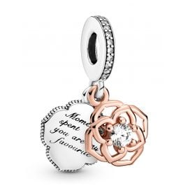 Pandora 789373C01 Dangle Charm Two-Tone Rose