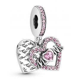 Pandora 799402C01 Dangle Charm Heart & Mum