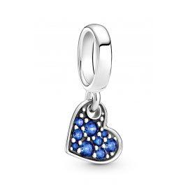 Pandora 799404C01 Charm-Anhänger Blaues Pavé Herz