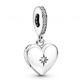 Pandora 799537C01 Silber Charm-Anhänger Herz-Medaillon