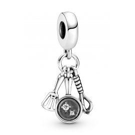 Pandora 799531C01 Silber Charm-Anhänger Pfannwender, Pfanne & Quirl