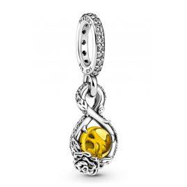 Pandora 399525C01 Anhänger Silber Disney Belle Unendlichkeit & Rose