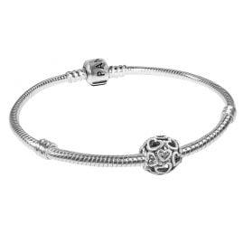 Pandora 79244 Women's Starter Bracelet Hearty Silver