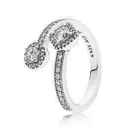 Pandora 191031CZ Damen Ring Abstrakte Eleganz